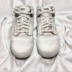 Men's Sz. 12 VANS White High-Top Shoes